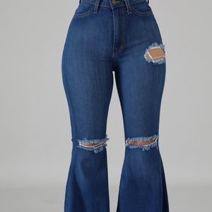 Fuego Flare Wide-Leg Jeans